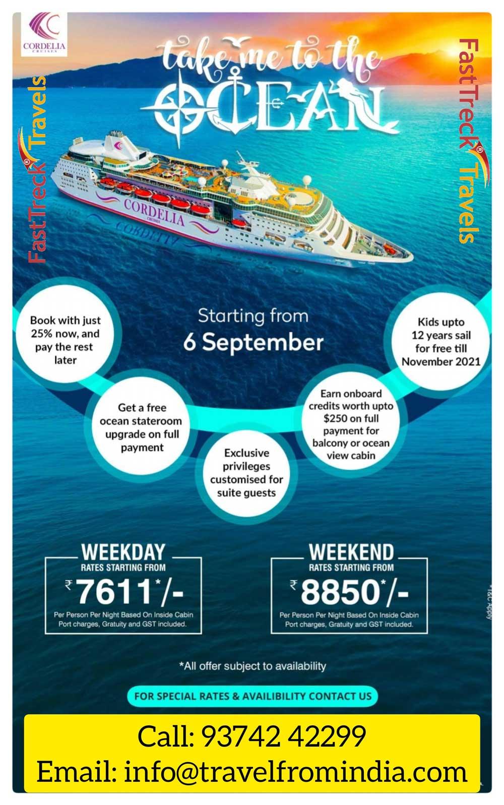 Ex Mumbai Sailing - 2 Nights Package